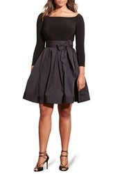 Lauren Ralph Lauren Plus Size Women's Jersey And Taffeta Party Dress