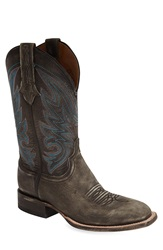 Lucchese 'Landon' Western Boot Men Barrel Brown