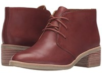 Clarks Phenia Carnaby Tan Leather Women's Lace Up Boots