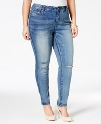 American Rag Plus Size Ripped Becky Wash Skinny Jeans Only At Macy's