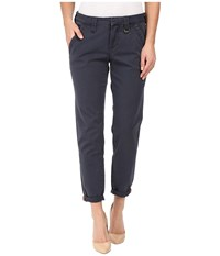 Jag Jeans Dana Tapered Boyfriend Chino Pant In Bay Twill Poseidon Women's Casual Pants Black
