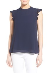 Women's Gibson Ruffle Sleeve Blouse Navy