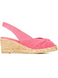 Castaner Castaner 'Dayana' Wedge Espadrilles Pink And Purple