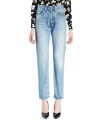 Saint Laurent '80S Skinny High Waist Denim Jeans Denim