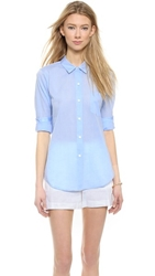 Theory Icon Shirting Perfect Buttondown Light Blue