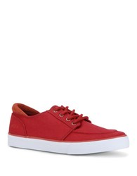 Marc New York Nypemb Lace Up Canvas Sneakers Burgundy White