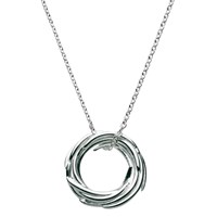Kit Heath Sterling Silver Nest Pendant Necklace Silver