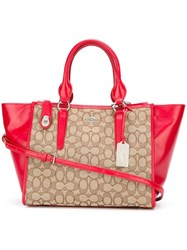 Coach Top Handle Tote Bag Nude And Neutrals