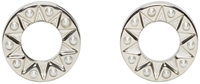 Givenchy Silver And Pearl Magnetic Star Earrings