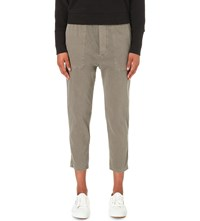 James Perse Cropped Twill Jogging Bottoms Ammo