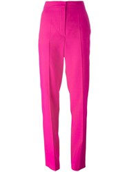Nina Ricci Pleated High Rise Trousers Pink Purple