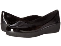 Fitflop Patent Superballerina All Black Women's Clog Mule Shoes