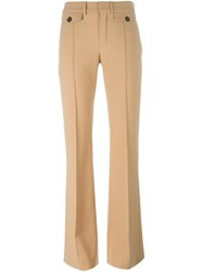 Chloe Fitted Flared Trousers Brown