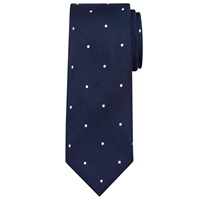 John Lewis Made In Italy Textured Spot Silk Tie Navy