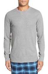 Men's Big And Tall Nordstrom Waffle Knit Long Sleeve T Shirt Grey Heather