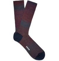 Missoni Ombre Wool Blend Socks Purple