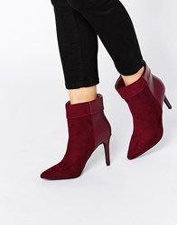 Pieces Psvalerie Heeled Ankle Boots Fudge Red