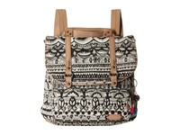 Sakroots Convertible Backpack Black White One World Backpack Bags Beige