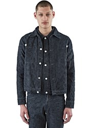 Telfar Embroidered Denim Jacket Black
