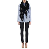 Barneys New York Women's Dolly Stola Scarf Black Blue Black Blue