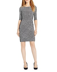 Lauren Ralph Lauren Houndstooth Print Dress Black Cream