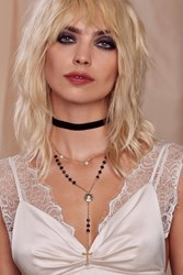 Kathryn Rosary Collar Necklace Gold
