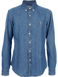Polo Ralph Lauren Slim Fit Denim Shirt Blue