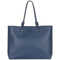 Jaeger Leather Knot Large Tote Bag Navy