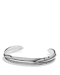 David Yurman Feather Wrap Cuff Bracelet Silver