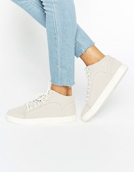 New Look Suedette High Top Trainer Mid Grey
