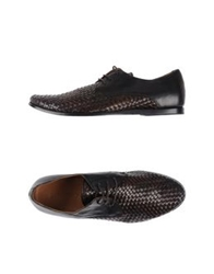Buttero Lace Up Shoes Dark Brown