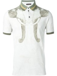 Etro Elephant Print Polo Shirt Nude And Neutrals