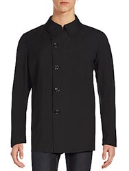 Allegri Asymmetrical Button Front Coat Black
