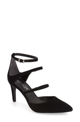 Charles By Charles David Women's 'Lena' Pointy Toe Strappy Pump Black Suede