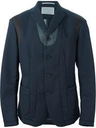 Kolor Structured Panelled Blazer Blue