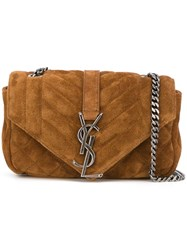 Saint Laurent Micro 'Sac De Jour' Bag Brown