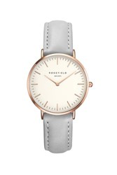 Topshop The Tribeca White And Grey Rose Gold Watch By Rosefield Grey