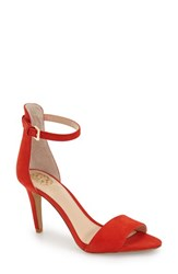 Vince Camuto Women's 'Court' Ankle Strap Sandal Juicy Red Suede