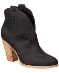 Report Doman Western Ankle Booties Women's Shoes Black
