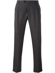Etro Jacquard Pattern Tailored Trousers Brown