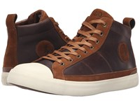 Polo Ralph Lauren Clarke Tan Smooth Oil Leather Sport Suede Men's Lace Up Casual Shoes Brown