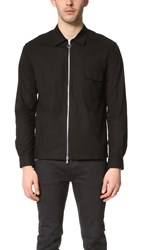 Timo Weiland Zip Front Shirt Black