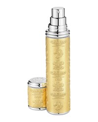 Gold Leather Atomizer With Silver Trim 10 Ml Creed Gold Silver