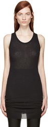 Haider Ackermann Black Long Ribbed Tank Top