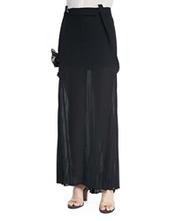 Brunello Cucinelli Long Pleated Skirt W Suspenders 42 6