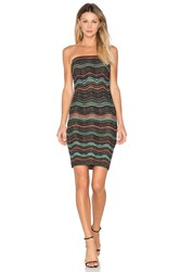 M Missoni Strapless Convertible Dress Metallic Neutral