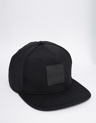 King Apparel 6 Panel Snapback Cap Black