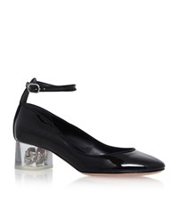 Alexander Mcqueen Patent Leather Skull Heels Female Black