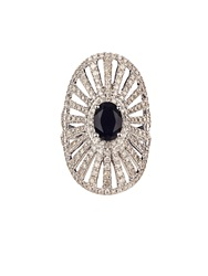 Elise Dray Diamond Onyx And White Gold Antoinette Pinky Ring