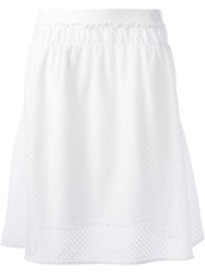 See By Chloe Broderie Anglaise Layered Skirt White